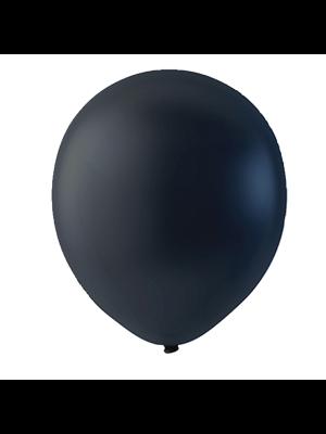 """Globo Látex Sólido Color Negro 9"""" (50 piezas)"""