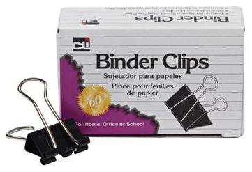 """BROCHE BINDER CLIP CHICO 3/4"""" ANCHO 3/8"""" C/12PZAS CH LEONARD"""