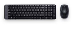 Kit de teclado y mouse LOGITECH MK220, Estándar, Negro, 10 m