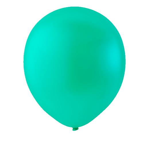 """Globo Látex Sólido Color Verde Jade 9"""" (50 piezas)"""