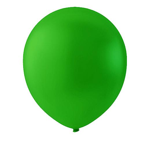"""Globo Látex Sólido Color Verde Lima 9"""" (50 piezas)"""