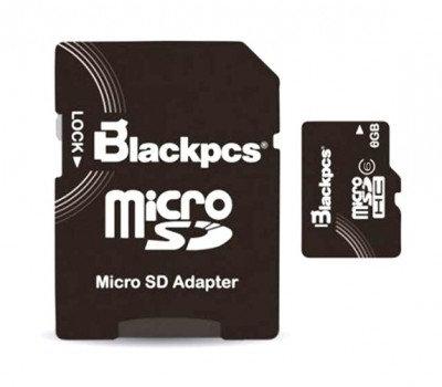 Memoria Micro SD Blackpcs 8 GB
