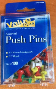 CHINCHETA PUSH-PIN COLOR SURTIDO C/100PZ