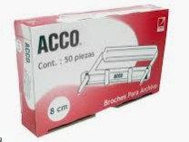 BROCHE ACCO 8 CMS LARGO C/50 PZA