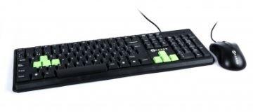 Kit de teclado y mouse Naceb Technology, Estándar, Negro