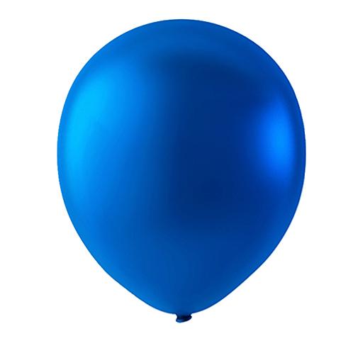 """Globo Látex Metálico Color Azul 9"""" (50 piezas)"""