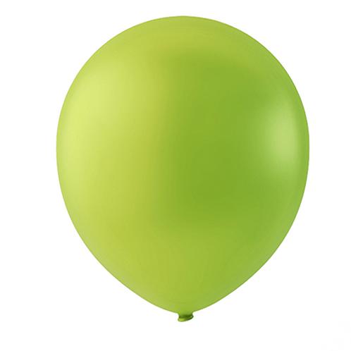 """Globo Látex Sólido Color Verde Manzana 9"""" (50 piezas)"""