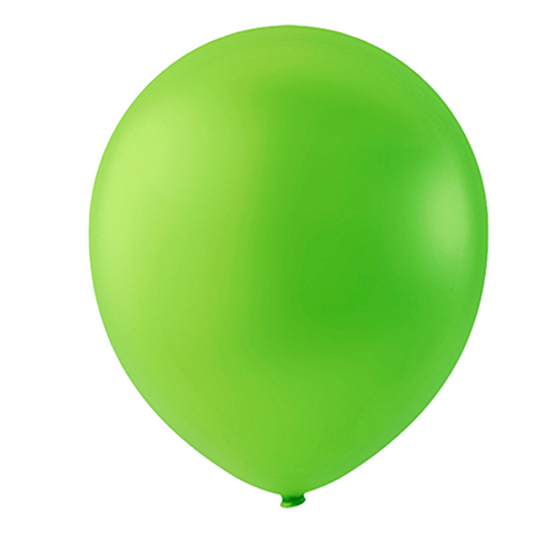 """Globo Látex Sólido Color Verde Kiwi 9"""" (50 piezas)"""