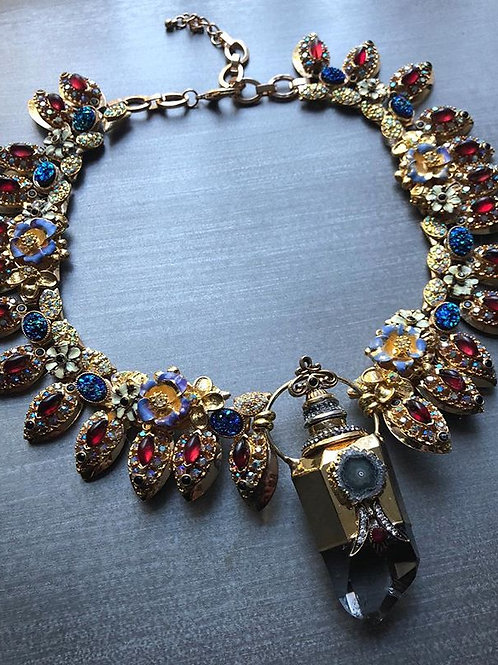 Kehinde Crystal Pendant Necklace