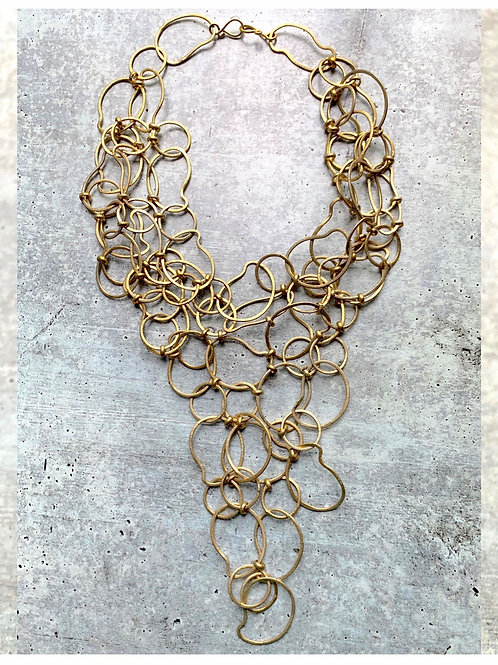 Abstract Link Mesh Necklace