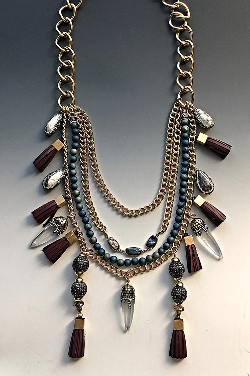 Eclipse Tassel Necklace