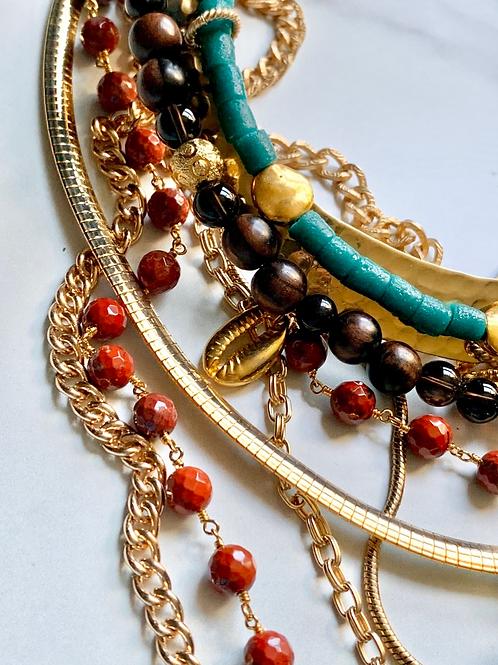Punu Multi-chain Necklace