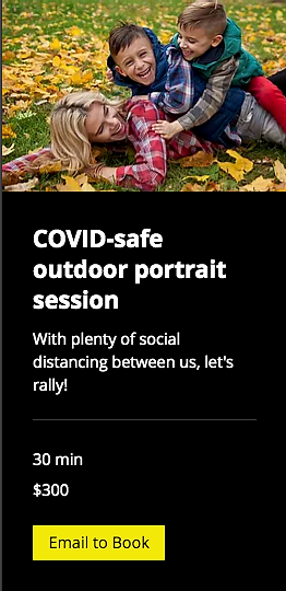 Covid-safe outdoor portraits