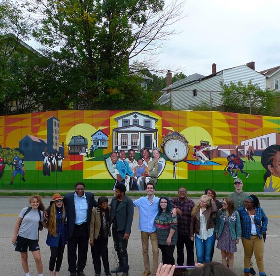 Evanston Mural Project team