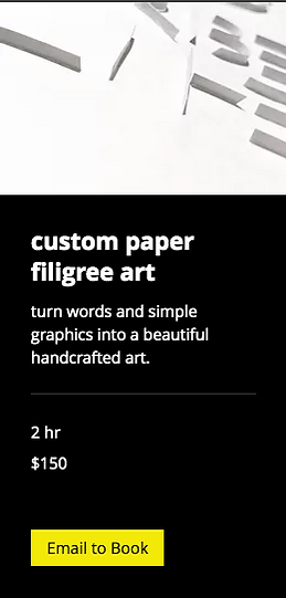 custom paper filigree art