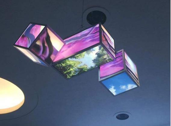 detail of light box