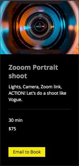 Zooom Portrait shoot