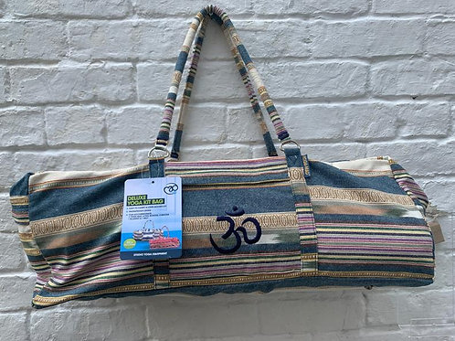 Kit Bag - Multi stripe Natural