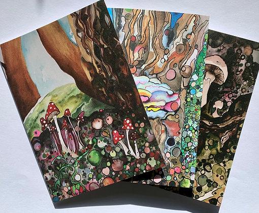 Watercolour Mushroom Cards