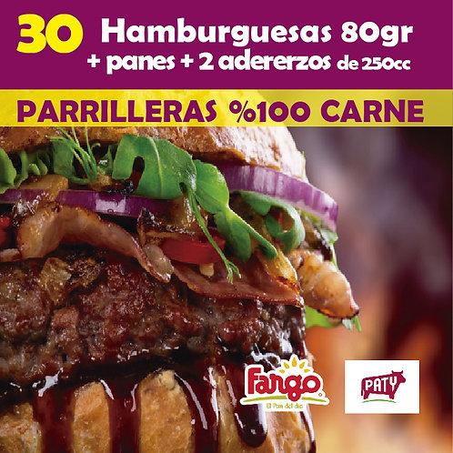 Hamburguesas x 30 PATY