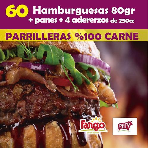 Hamburguesas x 60 PATY