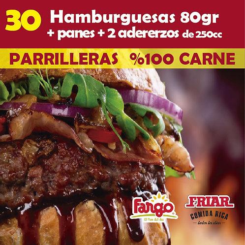 Hamburguesas x 30 FRIAR