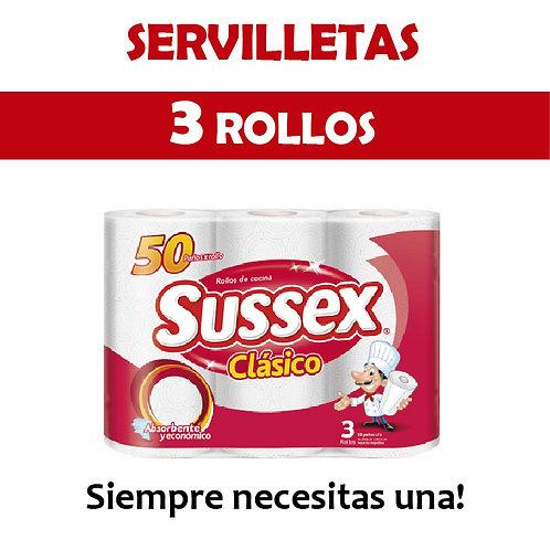 Servilletas Rollo x 3