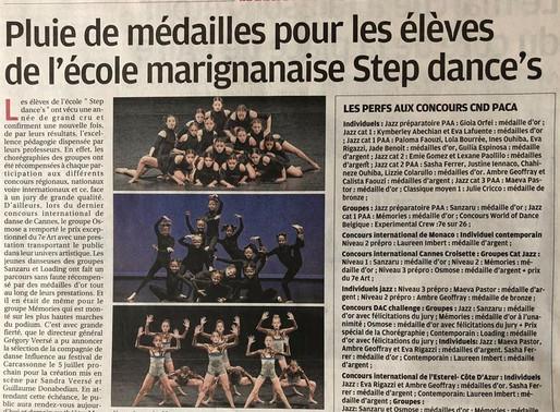 PLUIE DE MEDAILLES POUR STEP DANCE'S