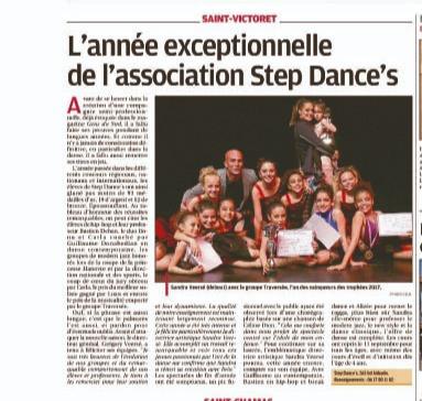 L'ANNEE EXCEPTIONNELLE DE STEP DANCE'S