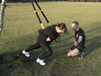 TRX Training outdoors
