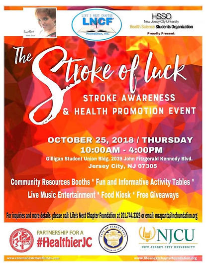 Stroke Awareness  & Heath Promotional Ev