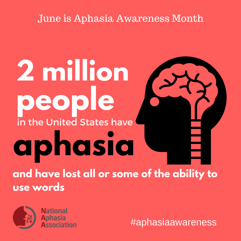 June is National Aphasia Awareness
