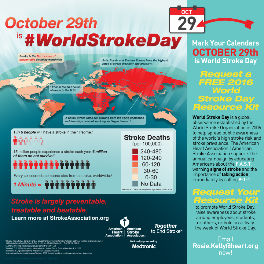 2016 World Stroke Day, Oct. 29 - FREE Activation Resource Kit