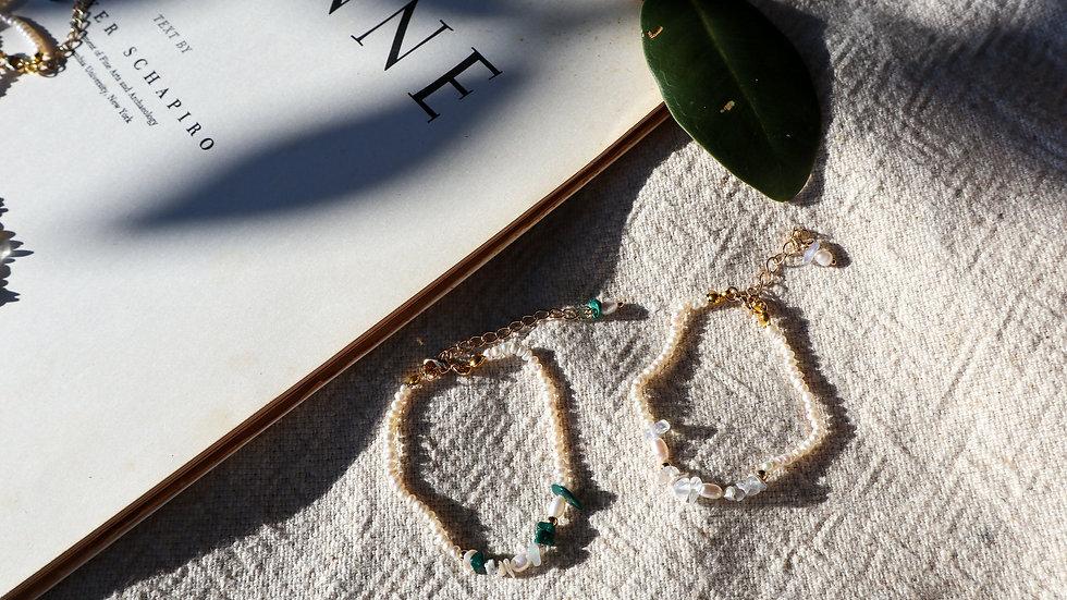Garden Pearl Silver Bracelet