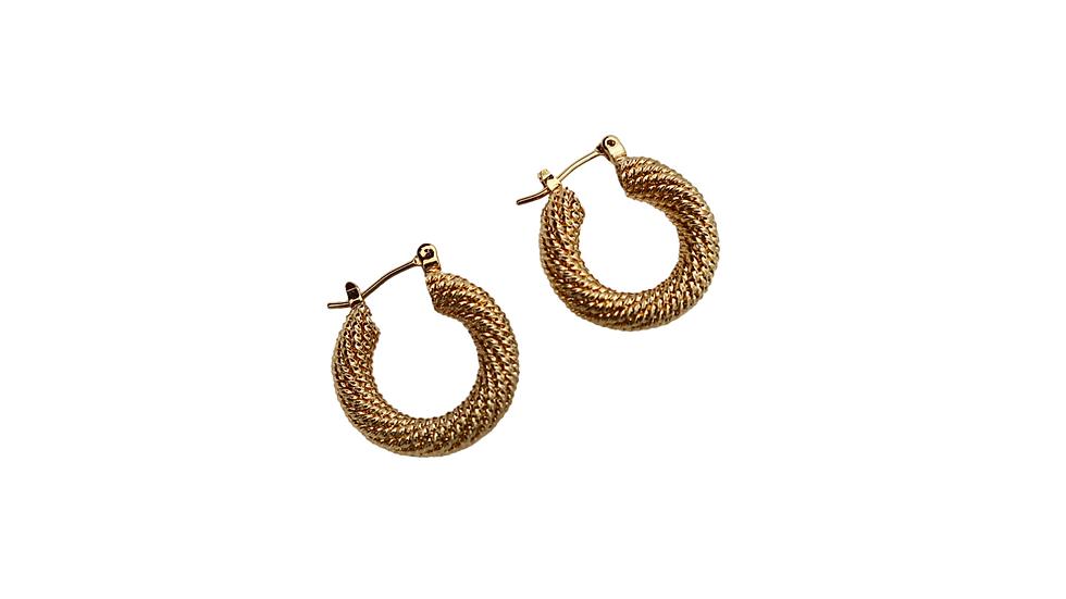 Textured Chunky Hoop Earring