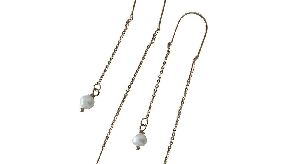 BGFP11 Mini Pearl Threader Earrings