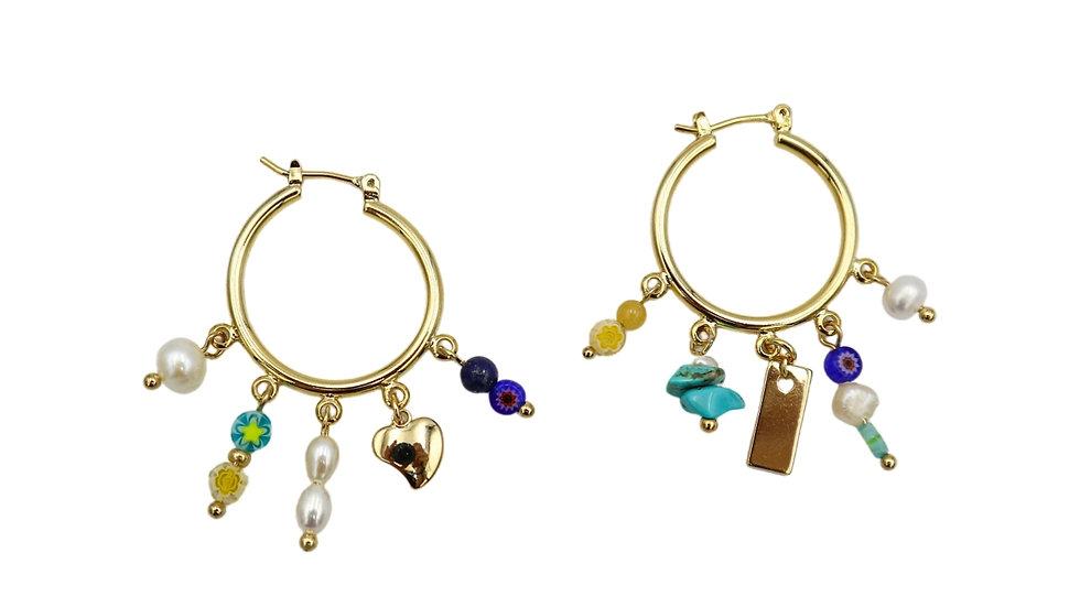 Sunlight Hoop Earrings