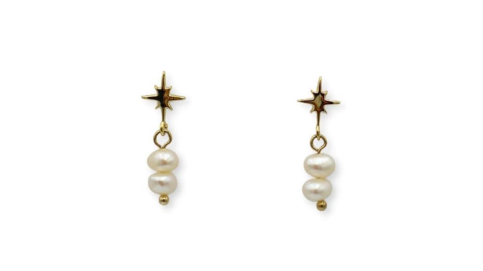 Stardust Pearl Stud Earrings