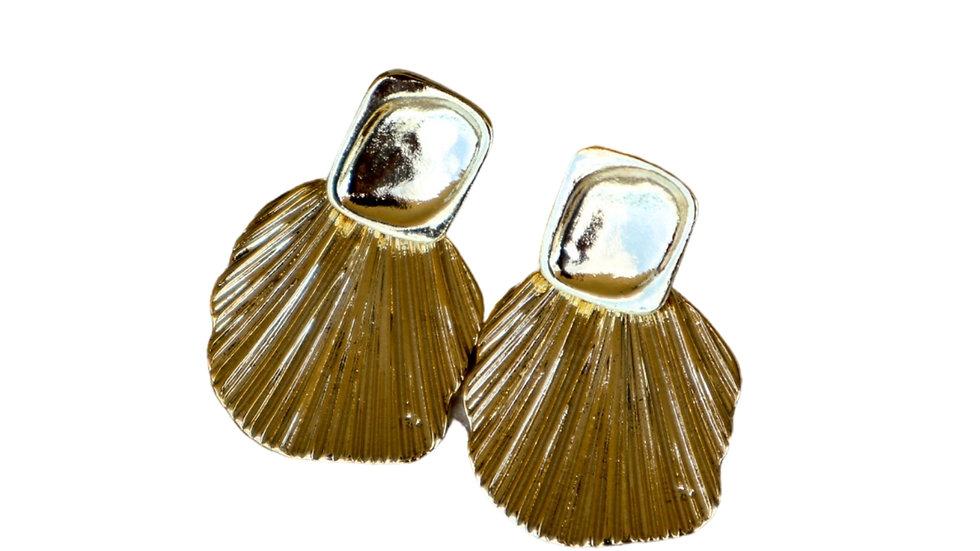 Comb-pattern Earring