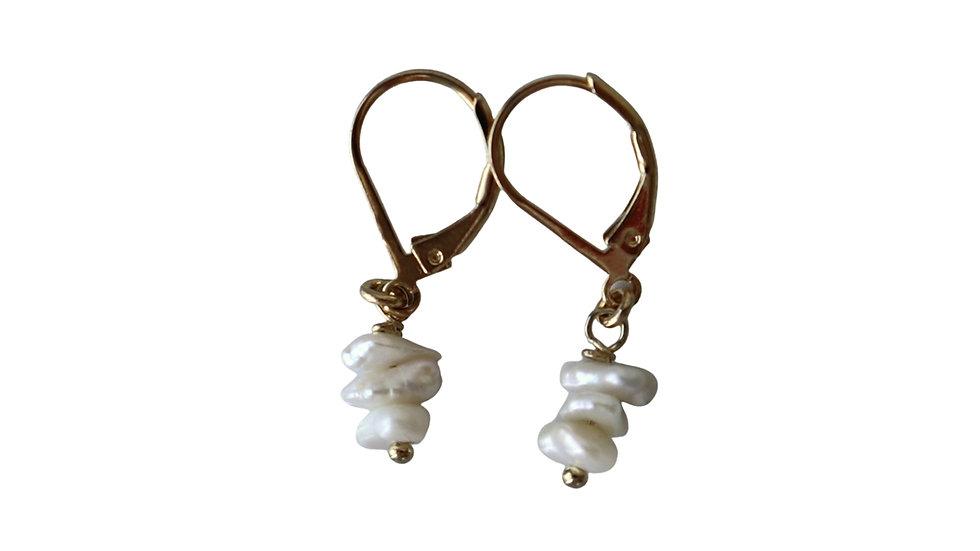 BGFP02 Baroque Pearl Chips Earrings