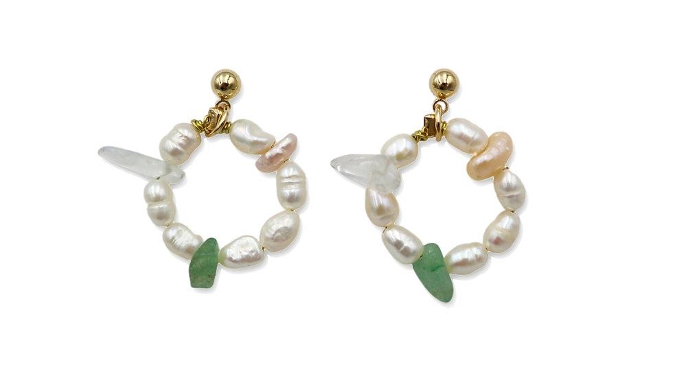 Summer Snow Pearl Earrings