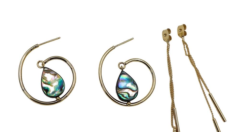 Miro Paua Shell Earrings