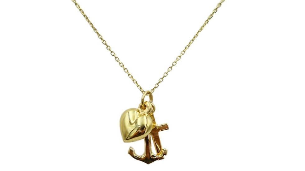 Sail Wild Hearts Gold Plated Silver Necklace