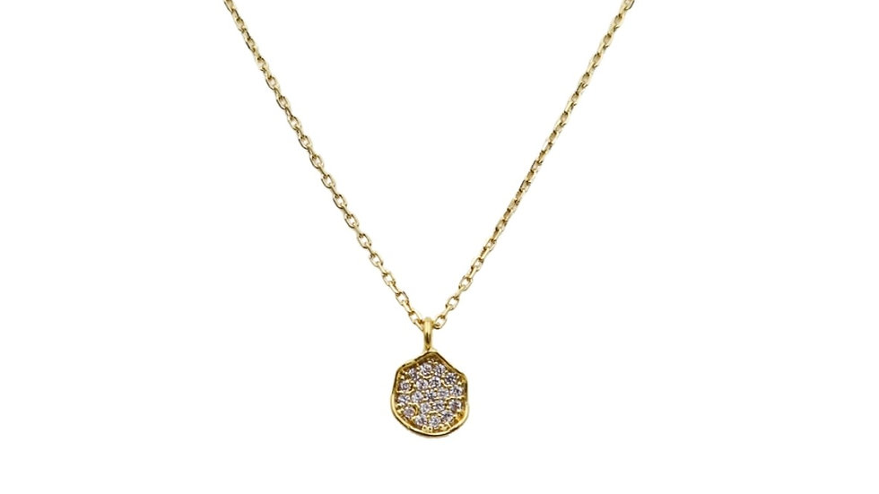 Round Cubic Silver Necklace