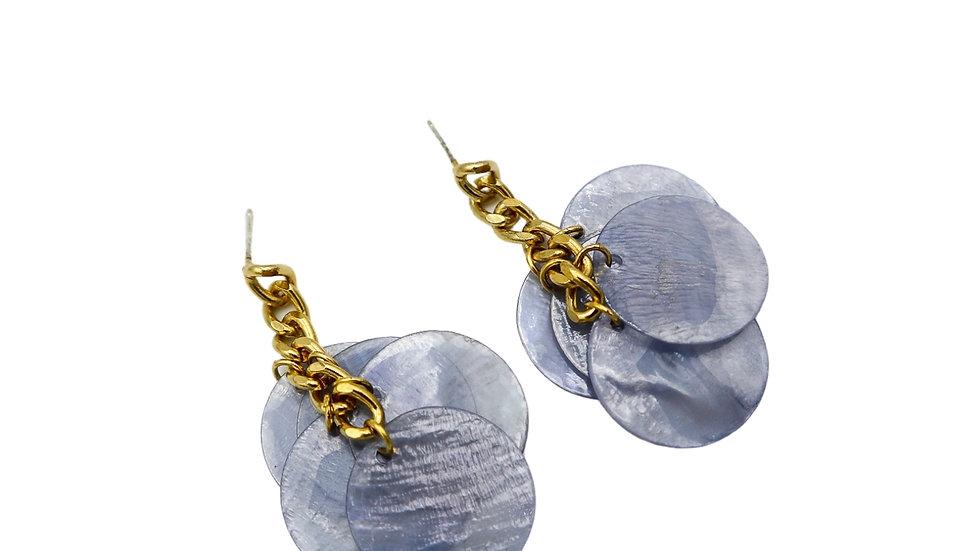 BGPT07 Chain MOP Earrings