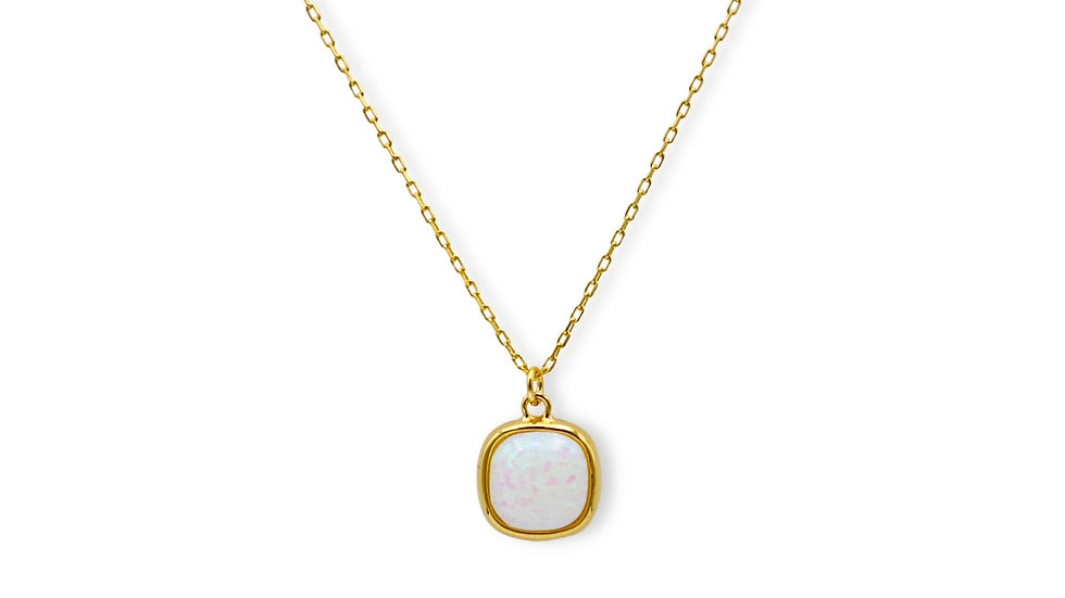 Opal Gold Plated Silver Necklace