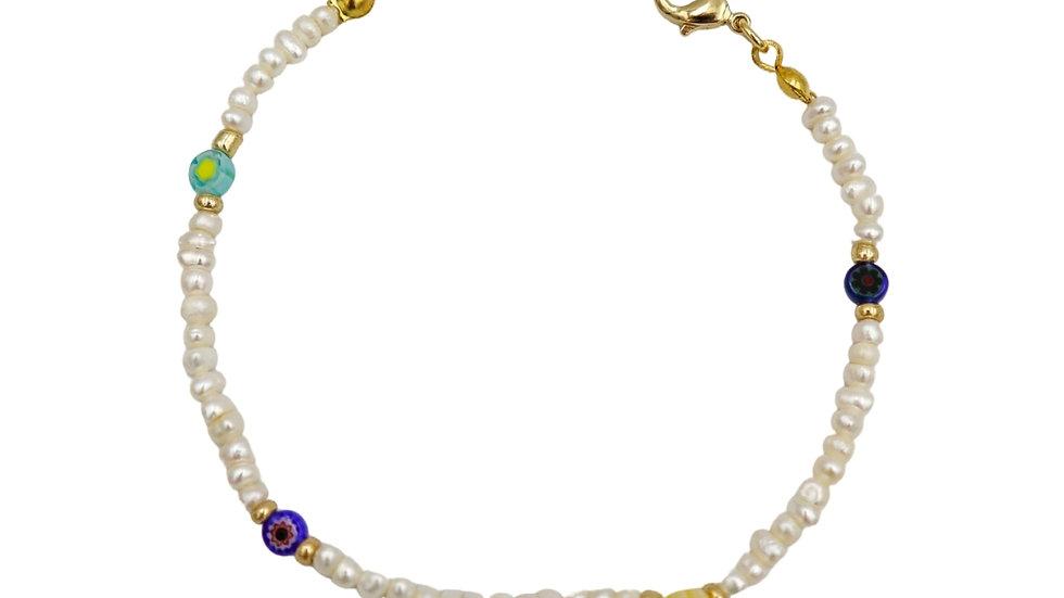 Seed Color Pearl Bracelet