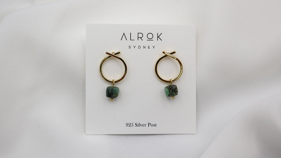 BGGP06 Peach Earrings - Emerald