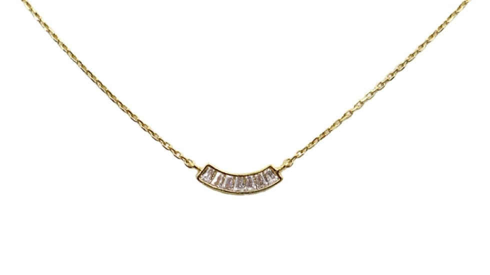 Dainty Mini Cubic Silver Necklace