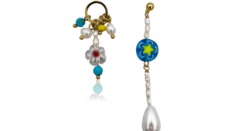 Gee Floral Unbalanced Earring